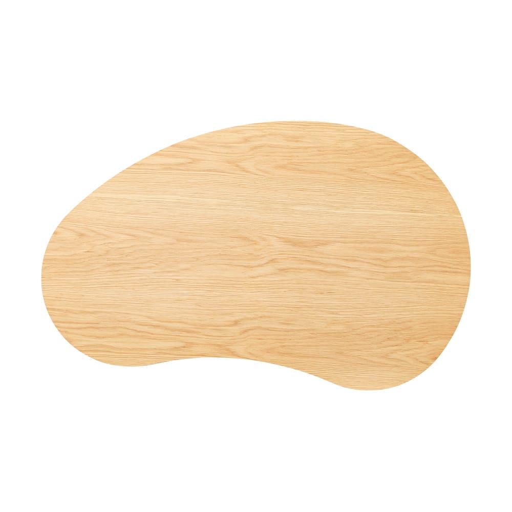 ビーンズ型(豆型) 折れ脚座卓 幅120cm (ア)ナチュラル 北欧風のお部屋にもぴったり。空間を明るく見せ、オークのなめらかな木目もお楽しみいただけます。