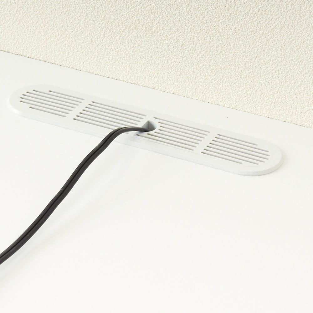 ダイニングテーブルから見やすいハイタイプテレビ台左コーナー用(左壁用) 天板中央奥にコード穴付きで配線可能。