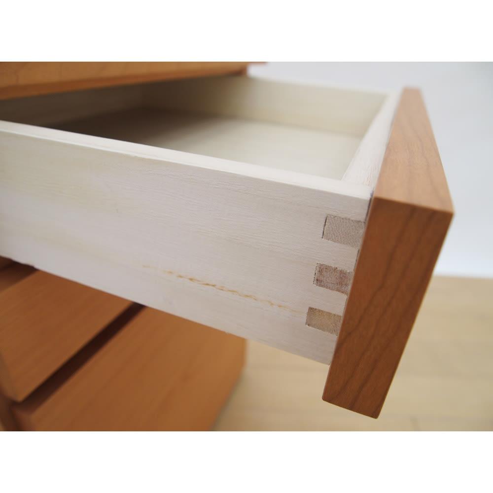 スクエアレッグデスク サイドチェスト幅42cm 丈夫な箱組構造。