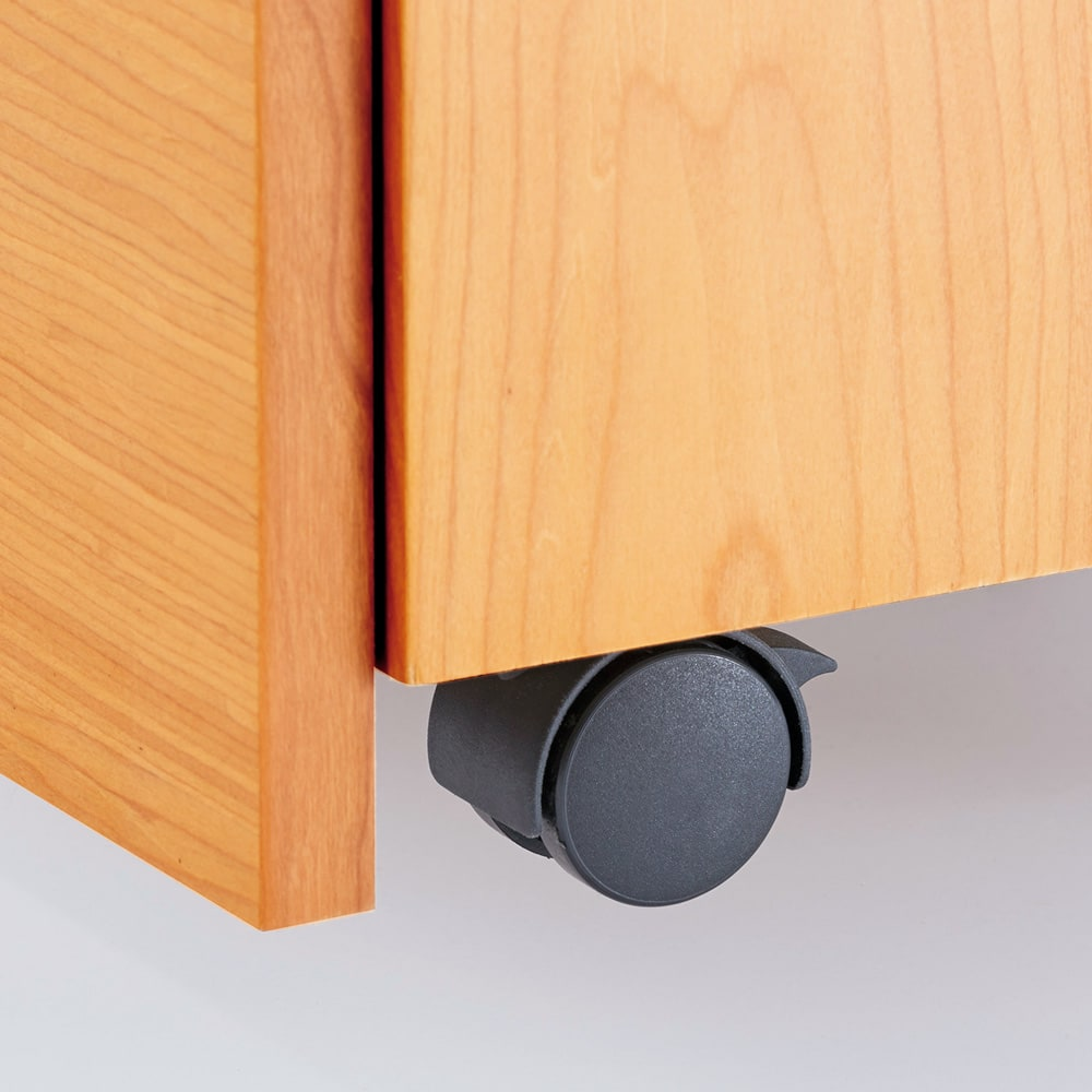 スクエアレッグデスク サイドチェスト幅42cm 隠しキャスター付きのスマートなデザイン。