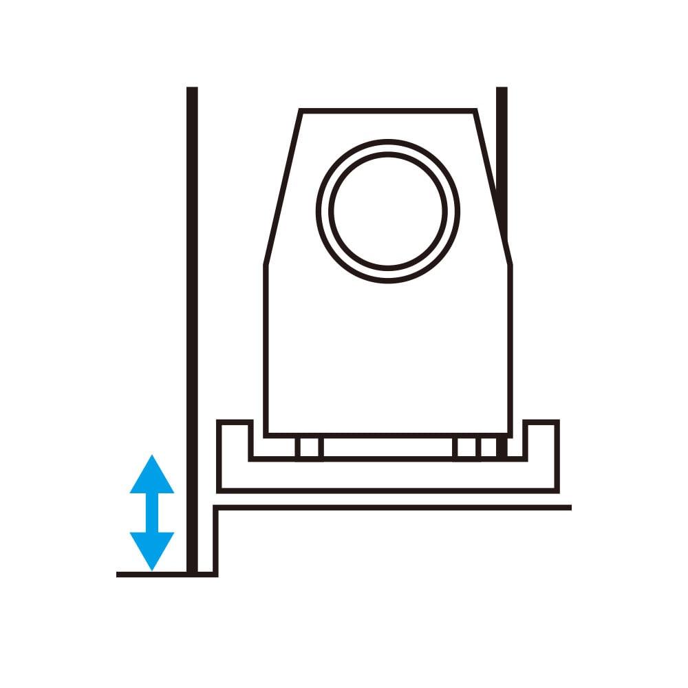防水パンの段差対応 突っ張りランドリーラック 棚3段 【防水パンの段差がまたげる】