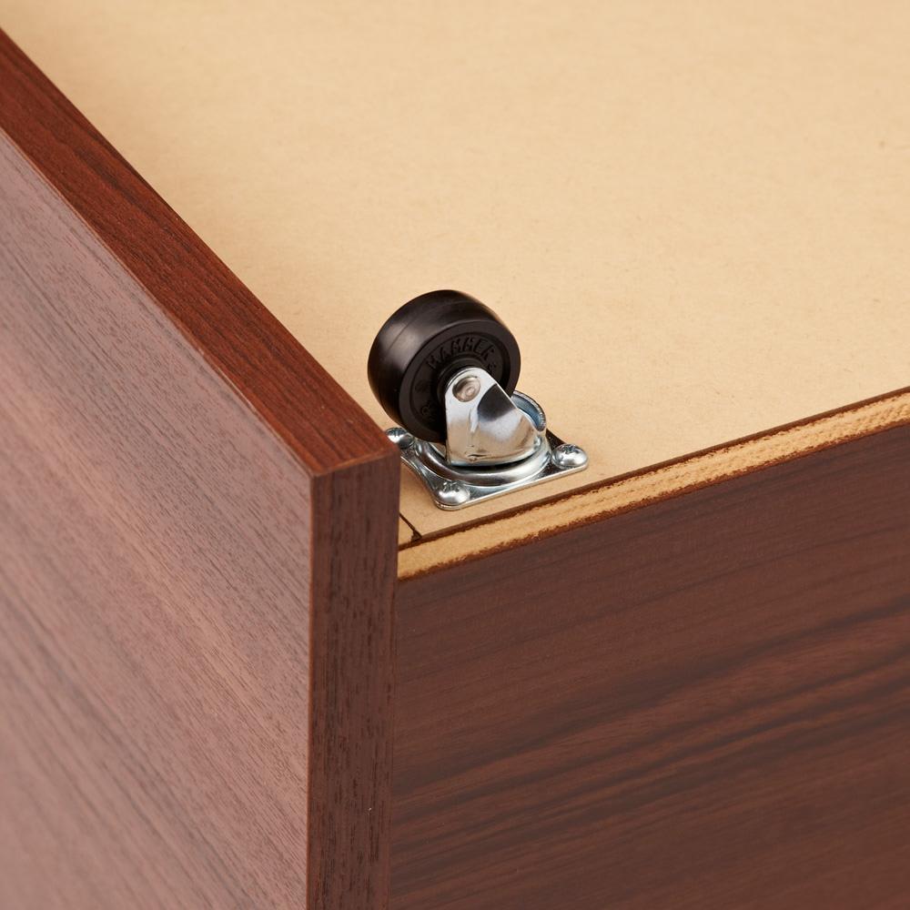 ベンチスタイルハンガーボード 2ボックスタイプ 幅79cm 1ボックスにキャスター4個付き。