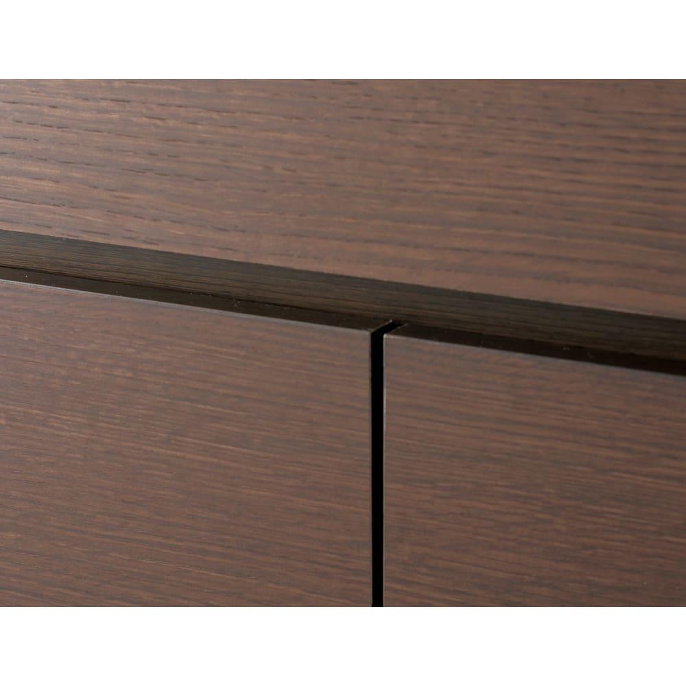 【日本製】いろいろ収納できるワードローブ ハンガー2段 幅60cm (イ)ダークブラウン前板 木目調のダークブラウン。