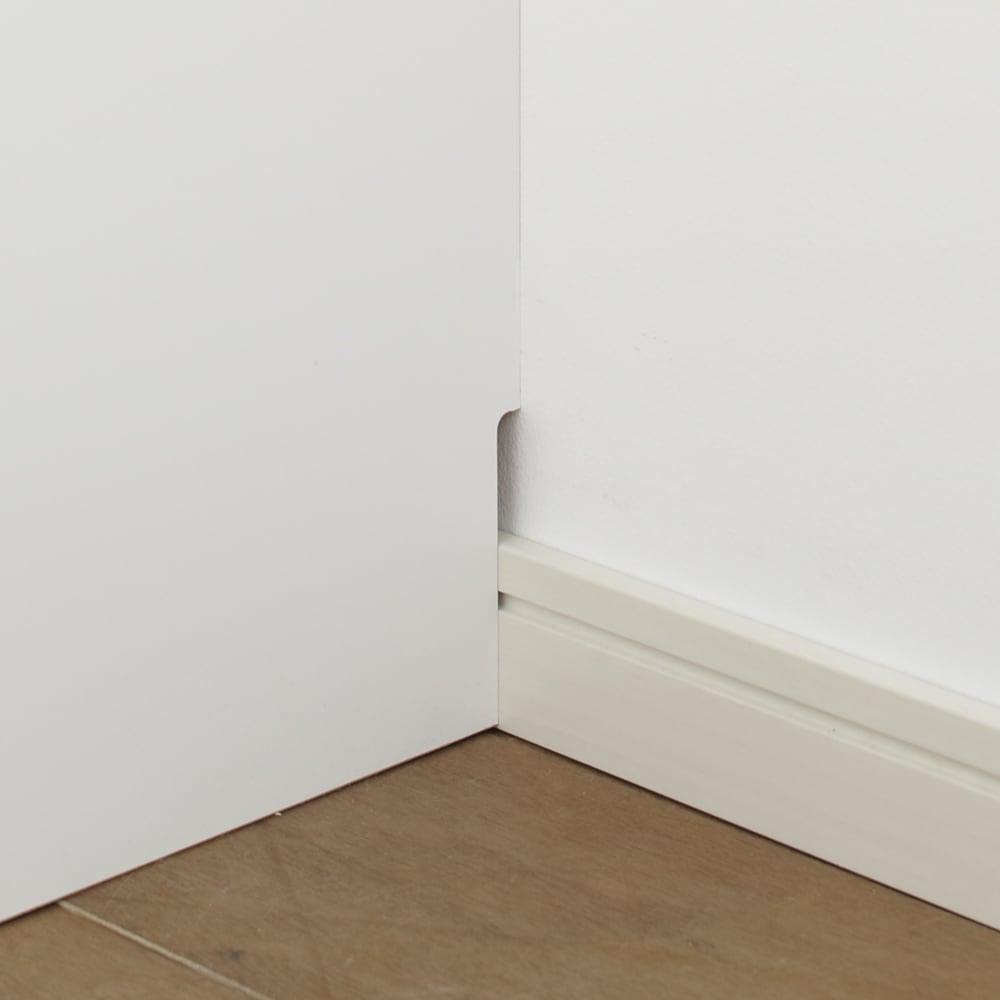【日本製】いろいろ収納できるワードローブ ハンガー2段 幅60cm 幅木をよけて壁にぴったり設置可能。(高さ8奥行1cm)