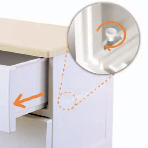 フィッツプラス 幅35cm・4段 【サイドローラー】 軽々と引き出せるサイドローラー内蔵の引き出し。