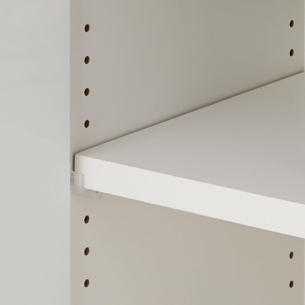 北欧風モダンカウンター下収納庫 クリア扉 幅60cm 棚は可動式で、収納物に合わせて2cm間隔で調節可能。