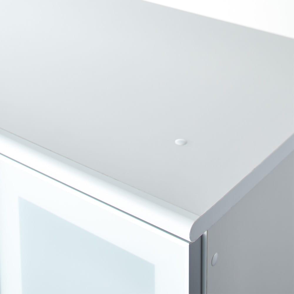 LDK壁面収納(高さ200cm) ダイニングボード ガラス扉 幅86.5cm 天板も綺麗な化粧仕上げです。