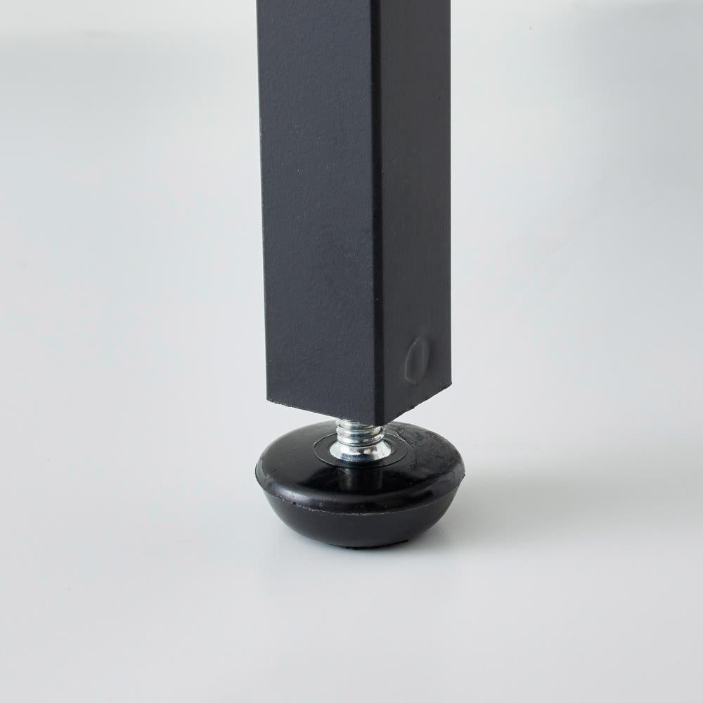 Ethica/エティカ 大理石調スチールラック 幅64cmロータイプ 脚部には水平アジャスター付き