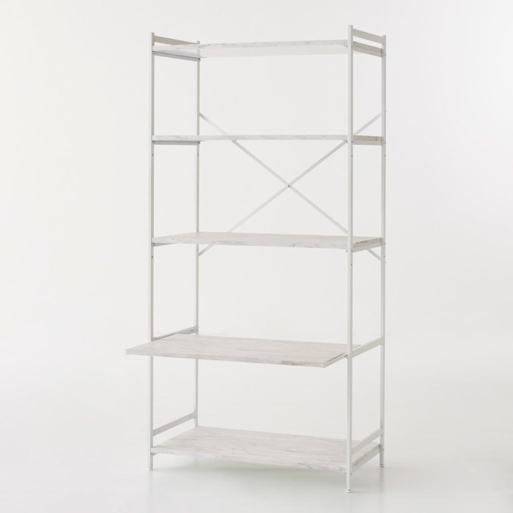 Milia/ミリア 大理石調 キッチン収納ラック ハイ 幅63.5cm