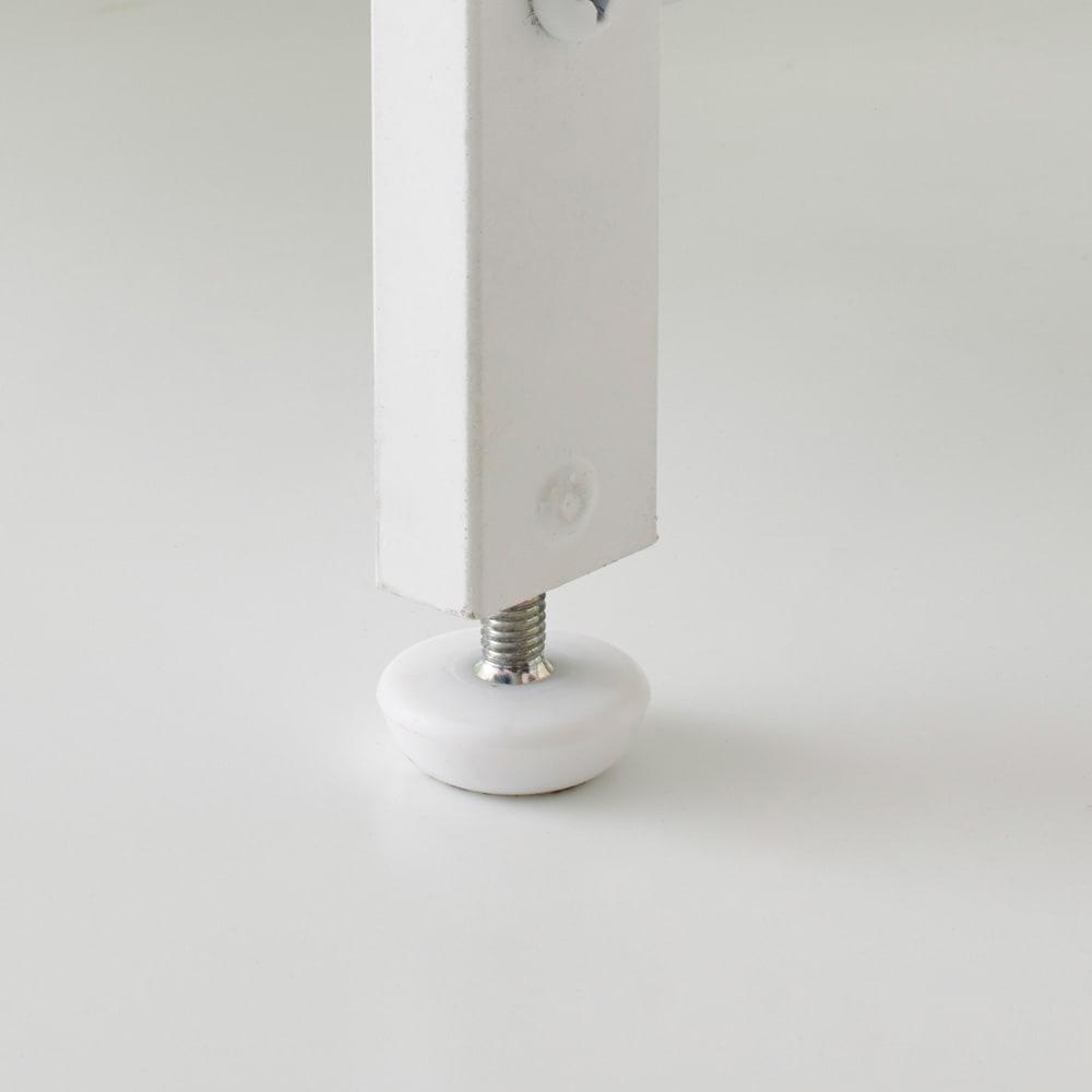 Milia/ミリア 大理石調天板キッチン収納ラック ロー 幅83.5cm 脚部はアジャスター付きで床のがたつきを調整できます。