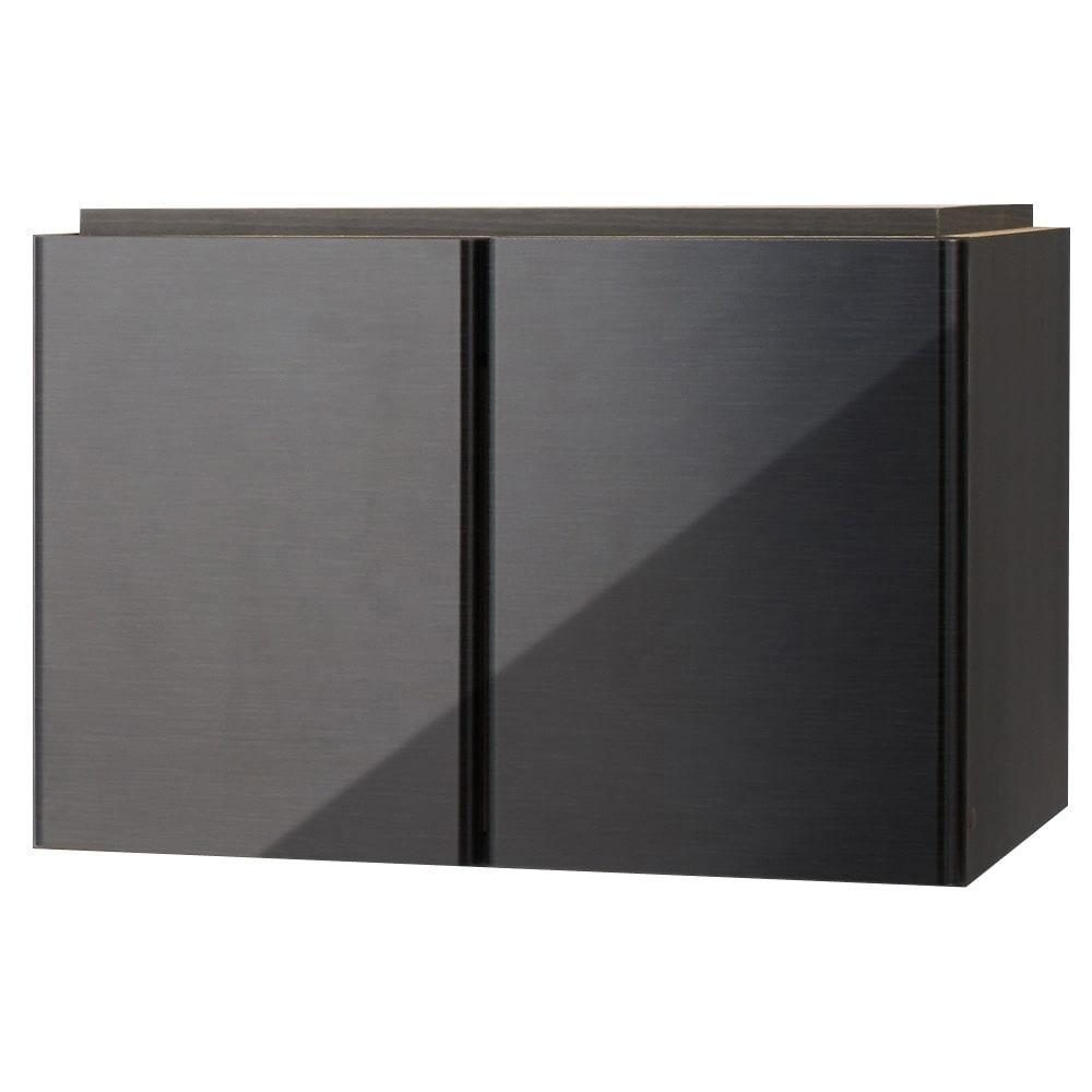 LDK壁面収納 オーダー対応突っ張り式 上置き(奥行35cm・梁よけ対応)幅58cm・高さ26~90cm (ウ)ブラック(横木目調) ※写真は幅58cmタイプです。