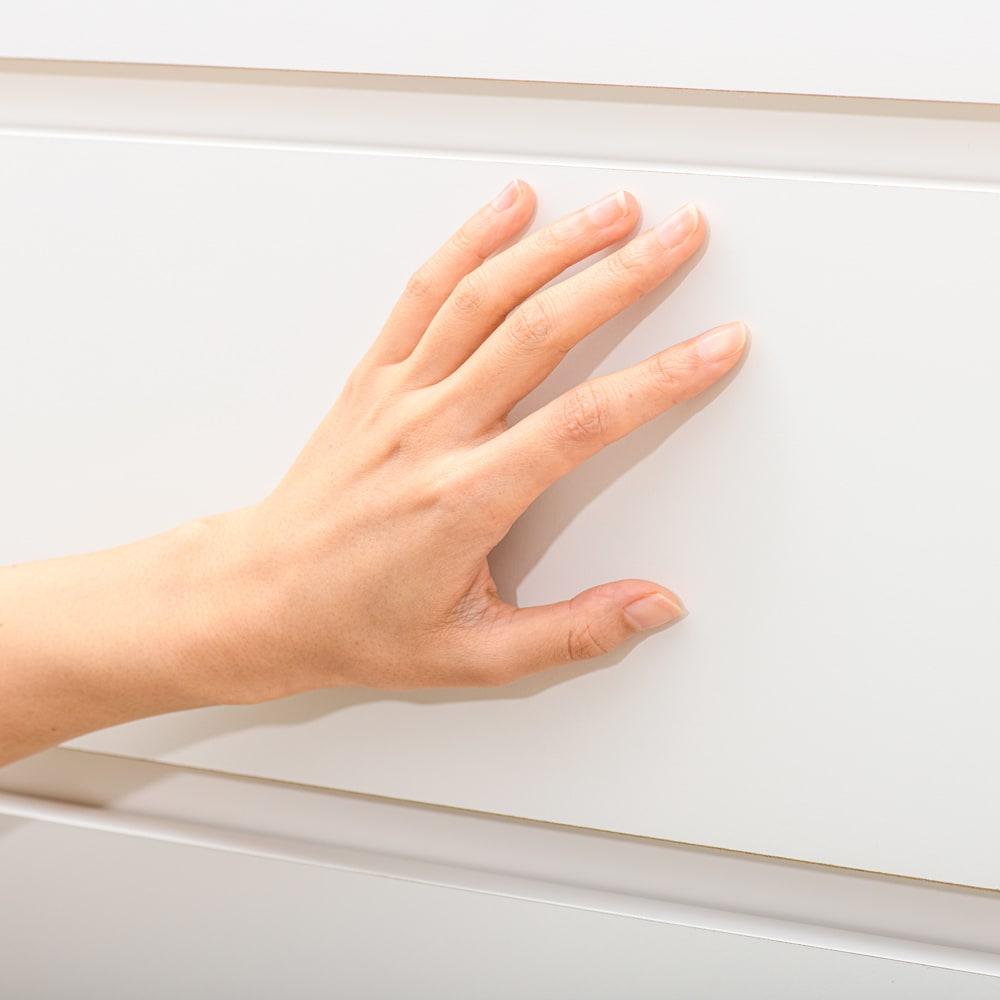 清潔に安心して使える 組み合わせ自在の薄型人工大理石天板カウンター 家電収納幅45cm 化粧合板表面に、抗菌・抗ウイルス加工を施された表面シートを使用しています。