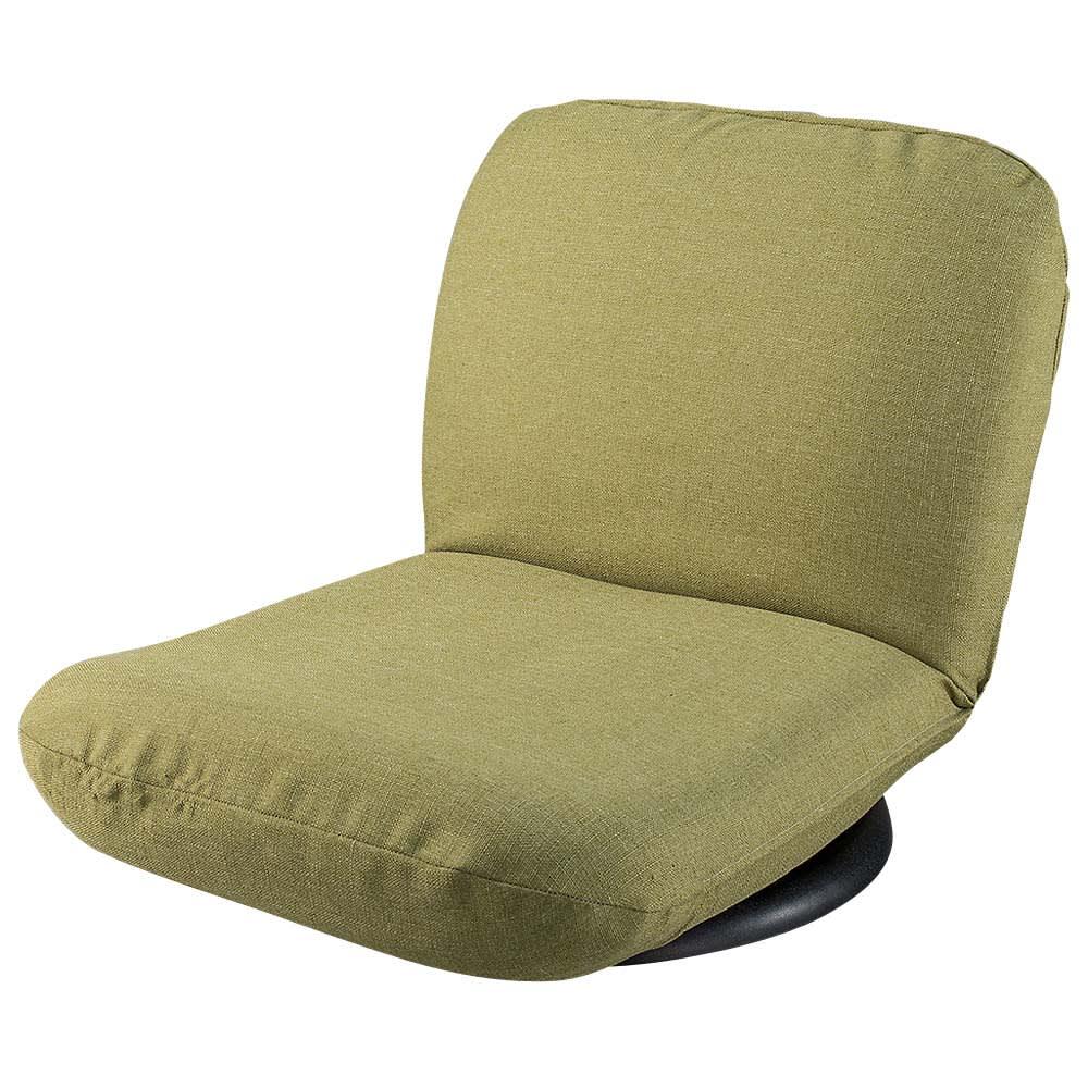 特許を取得した腰に優しい回転座椅子 ロータイプ (ウ)グリーン