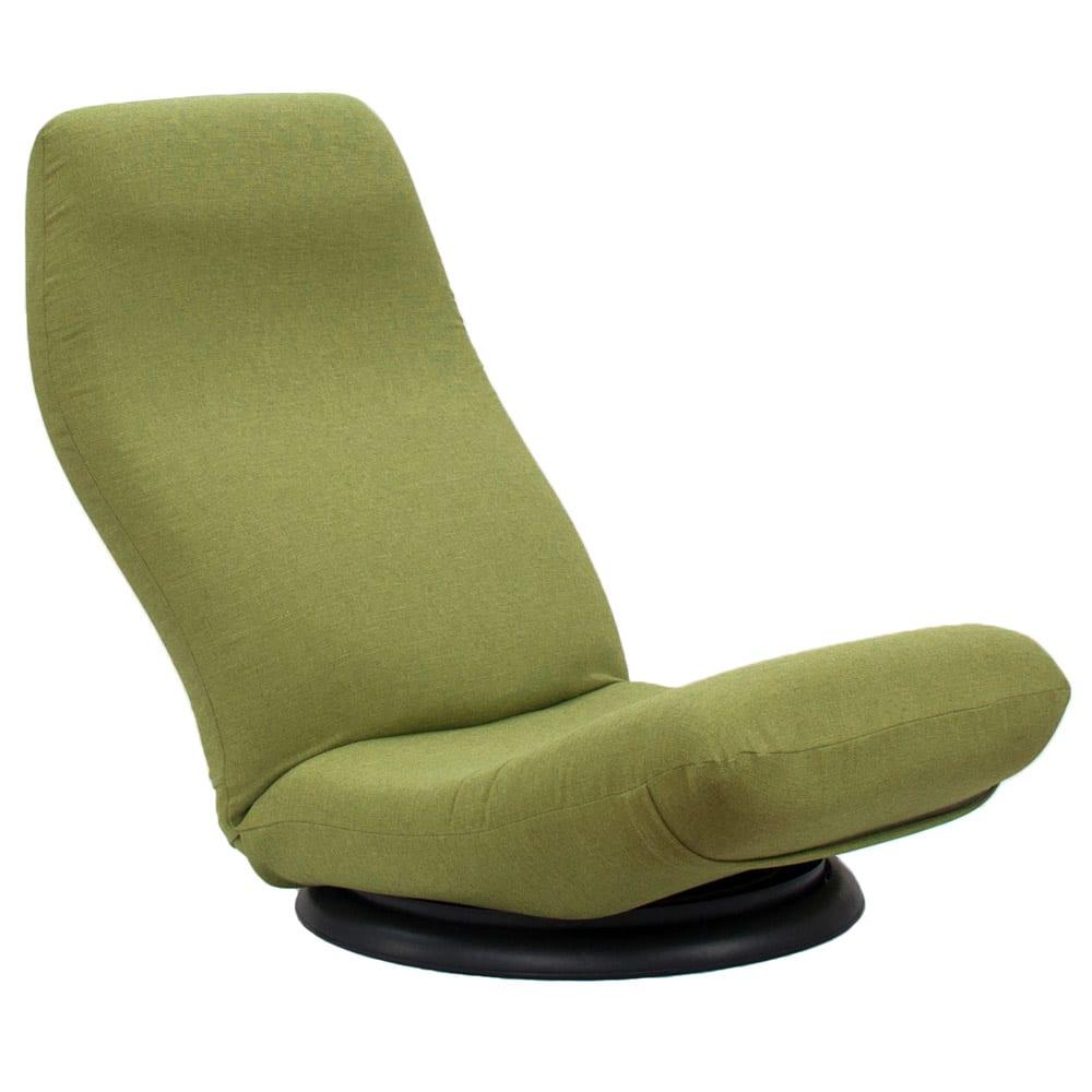 特許を取得した腰に優しい回転座椅子 ハイタイプ (ウ)グリーン