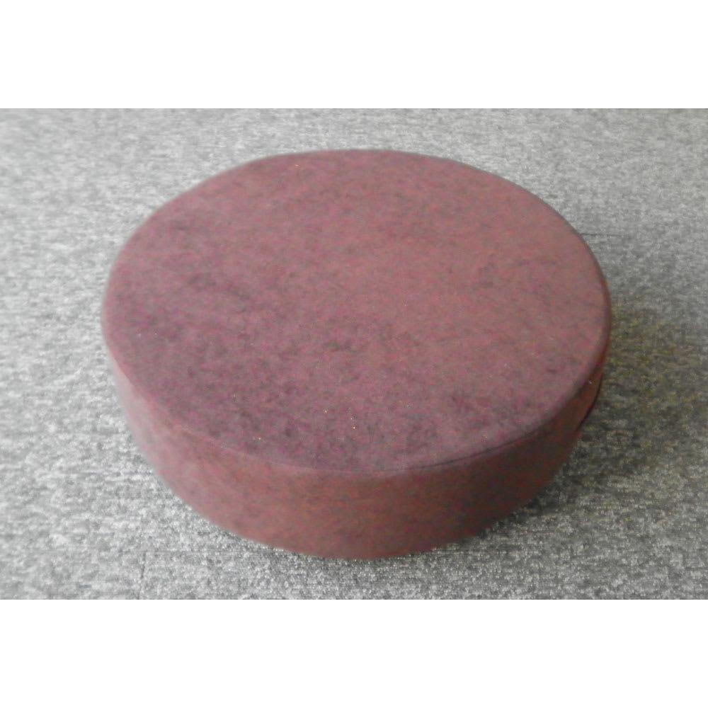 洗濯できるカバーの低反発 ふんわりあぐらフロアクッション (裏面)裏面に座れば、表面より硬めのしっかりした感触で座れます。
