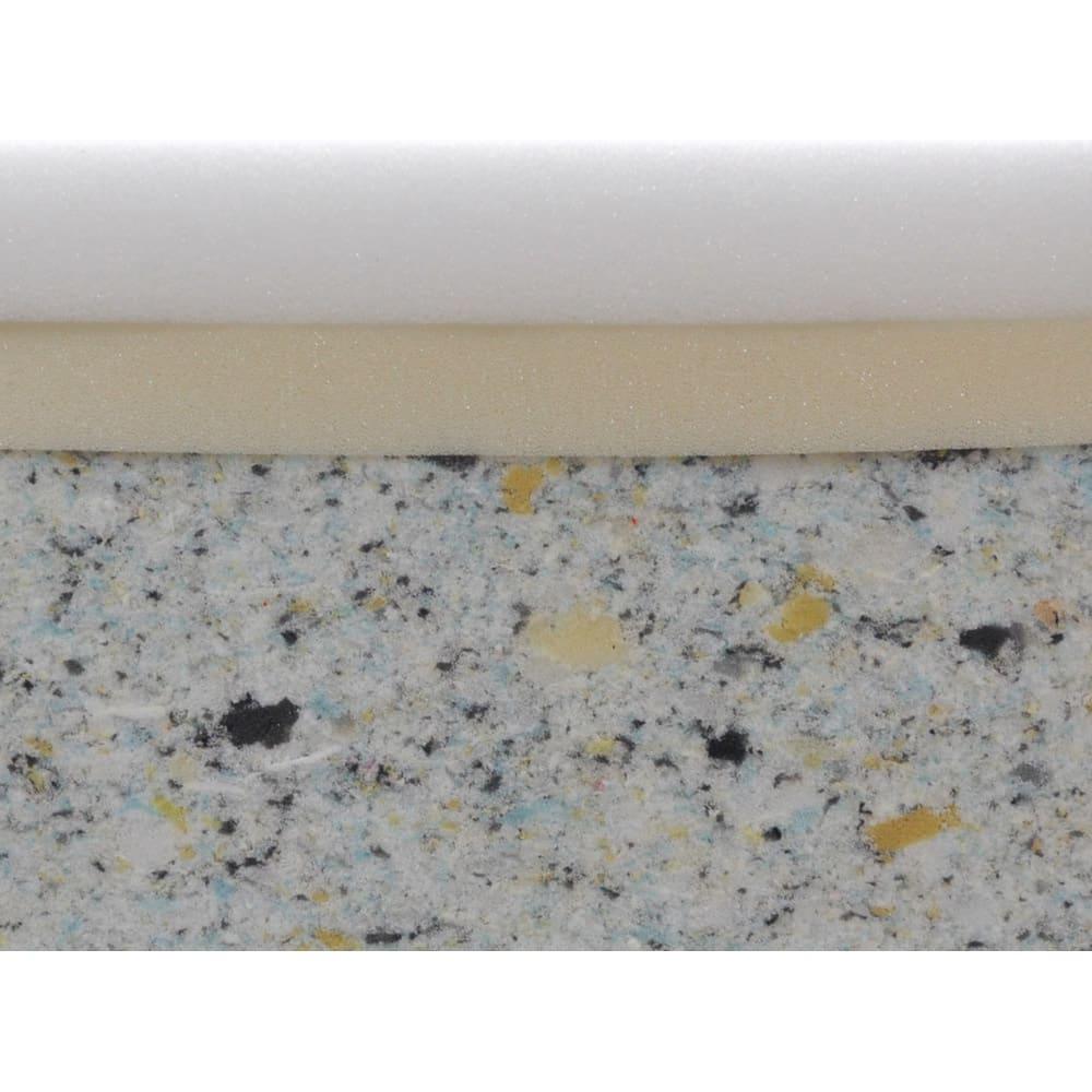 洗濯できるカバーの低反発 ふんわりあぐらフロアクッション (こだわりの3層構造)低反発ウレタン・高反発ウレタン・耐久性の高いチップウレタンの3層構造。一番下のチップウレタンが土台となり、しっかりした座り心地に。