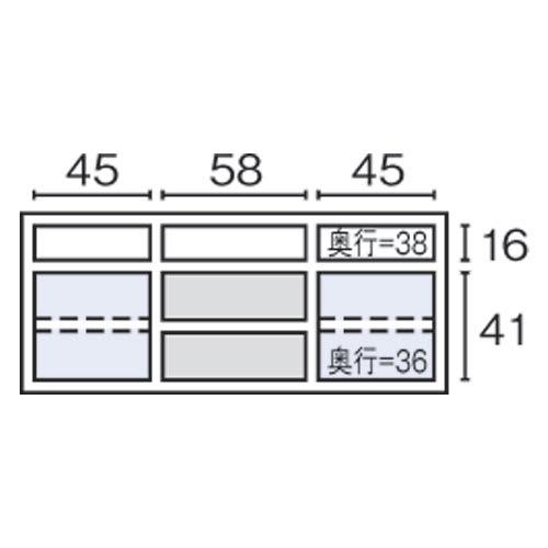 Texture/テクスチャー テレビ台キャビネット ウォルナット 幅160cm 内寸図(cm)