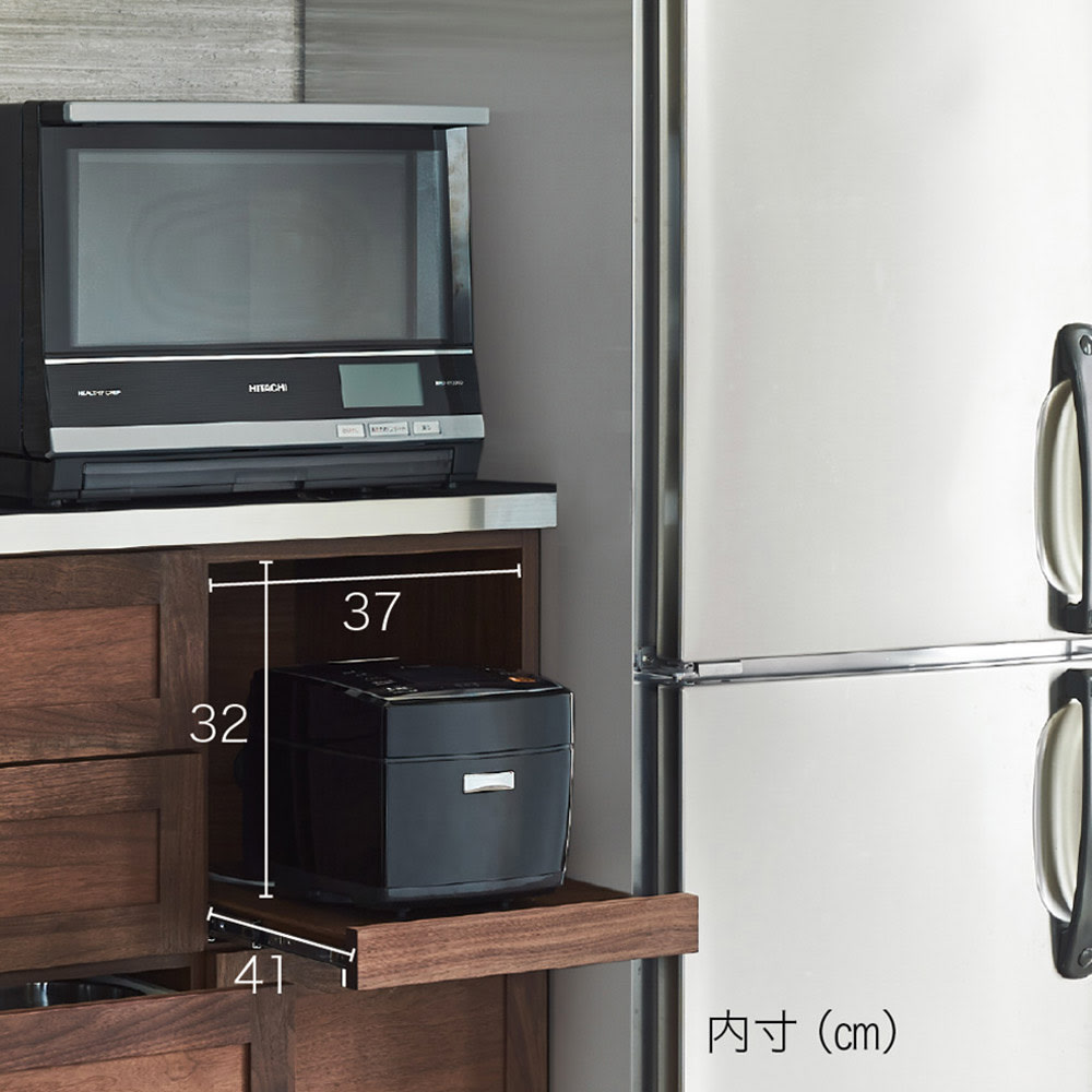 Lenoix/ルノワ ウォルナットカウンター 幅120.5高さ100.5cm