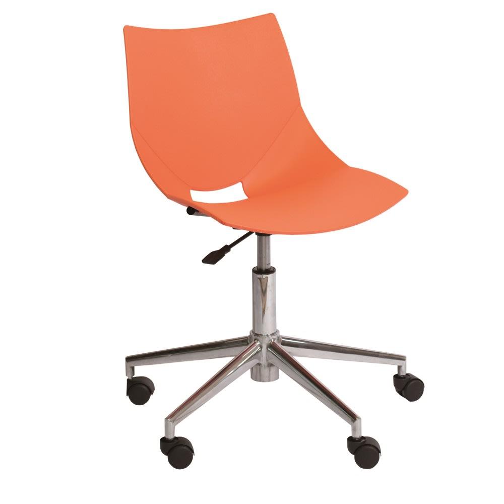 イタリア製キャスター付きオフィスチェア コスカスィベールX オレンジ