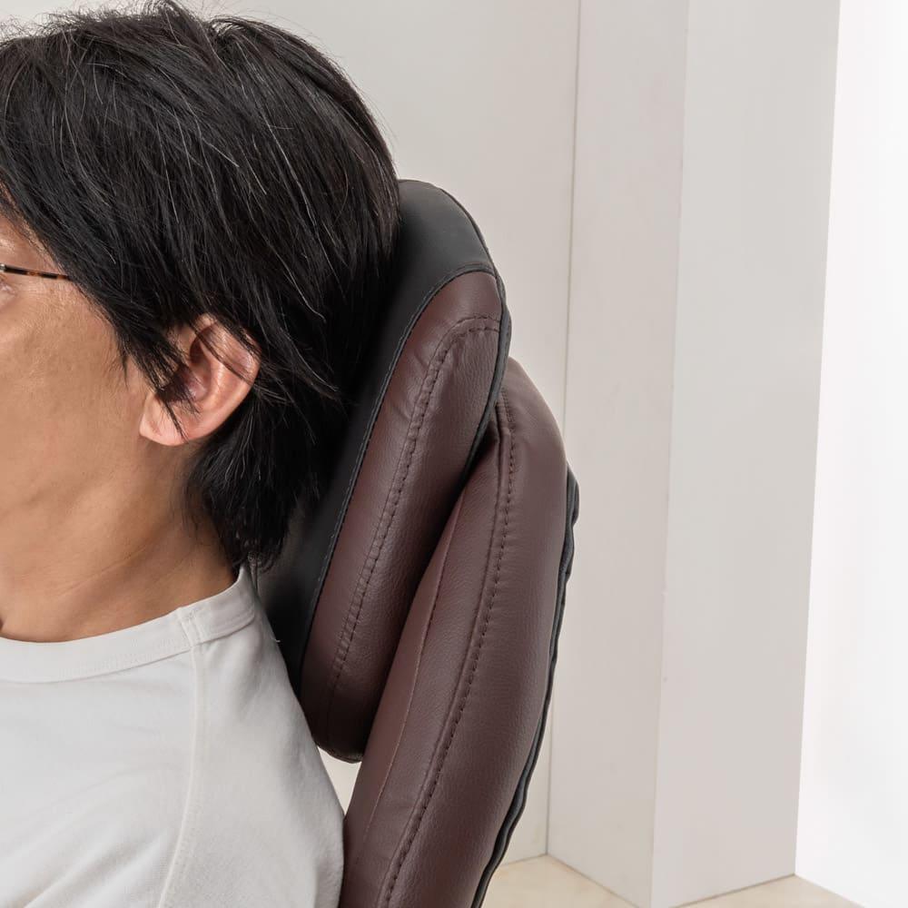 収納できるオットマン付き170度リクライニング ゲーミングチェア ブラウン