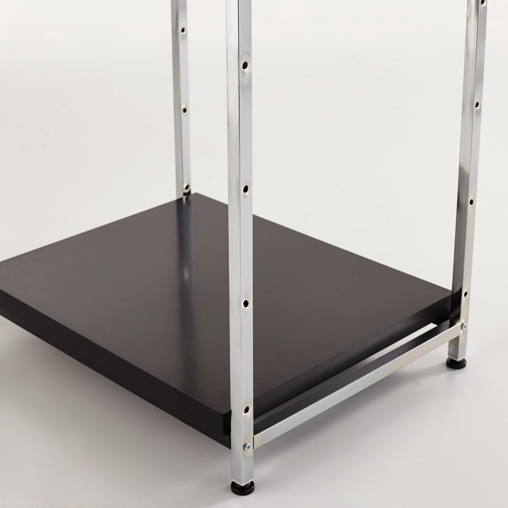 Lenato(レナート) ハンガーラック 幅62cm ブラック 棚板は高さが変えられます。チェストを入れる場合は高さを上げてご使用ください。