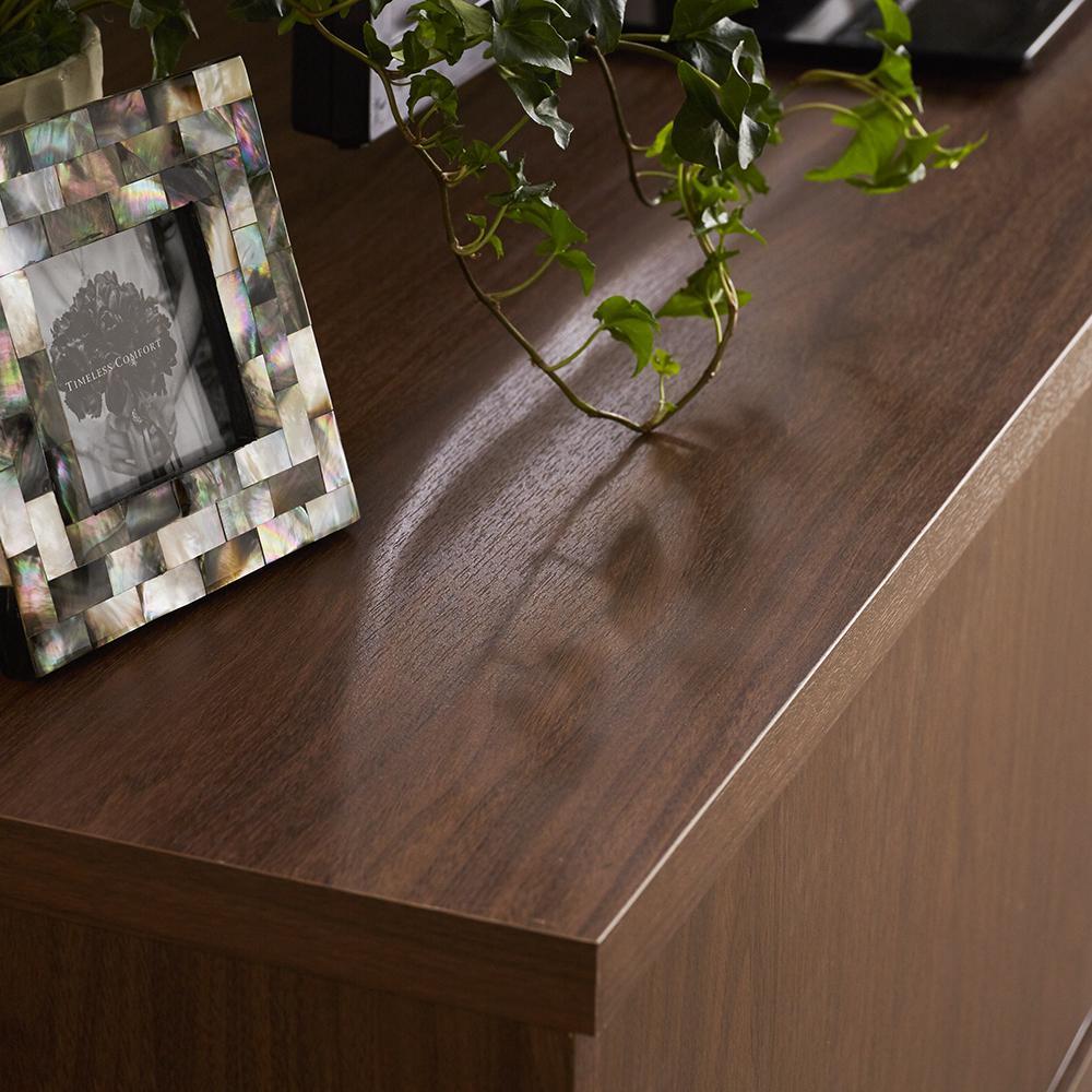 北欧風脚付き引き戸テレビボード 幅180cm シンプルでナチュナルな雰囲気の天然木調のデザイン