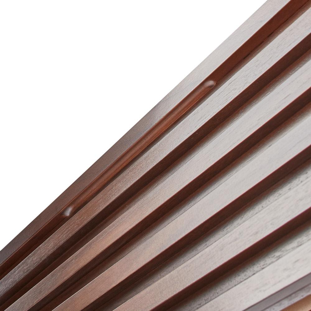 ウォルナット格子調ベッド フレームのみ ショート丈(長さ194cm) モダンな格子デザイン
