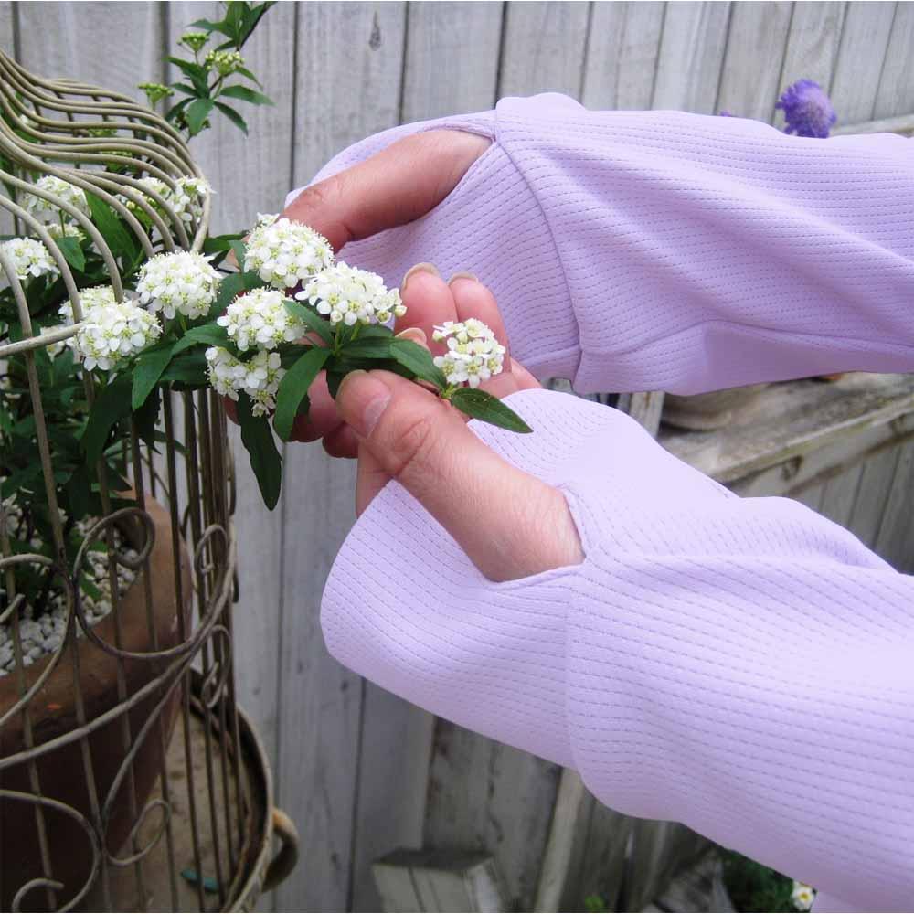 虫除けUV加工ガーデニングウエア ハイネック 手を日除けから守って。