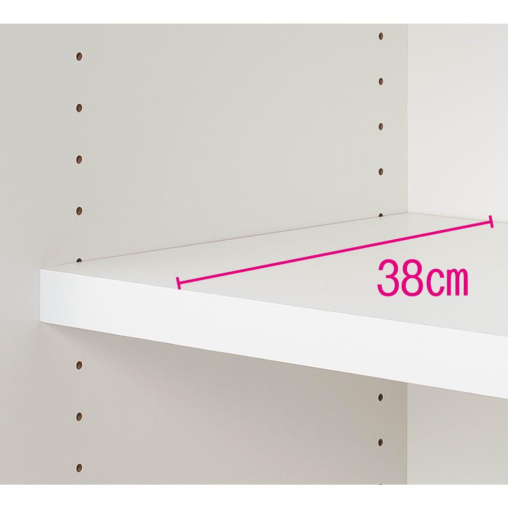 収納性が自慢の引き戸式本棚 幅120本体高さ228cm 奥行ゆったり。棚板高さは3cmピッチで調節。