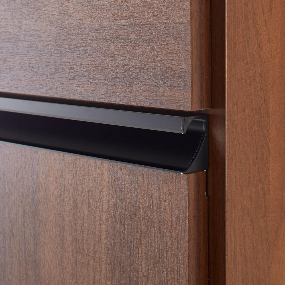 Gamlin/ガムリン 家具調ダストボックス 2分別 取っ手はブラックのアルミ製を使用した高級感あるデザイン
