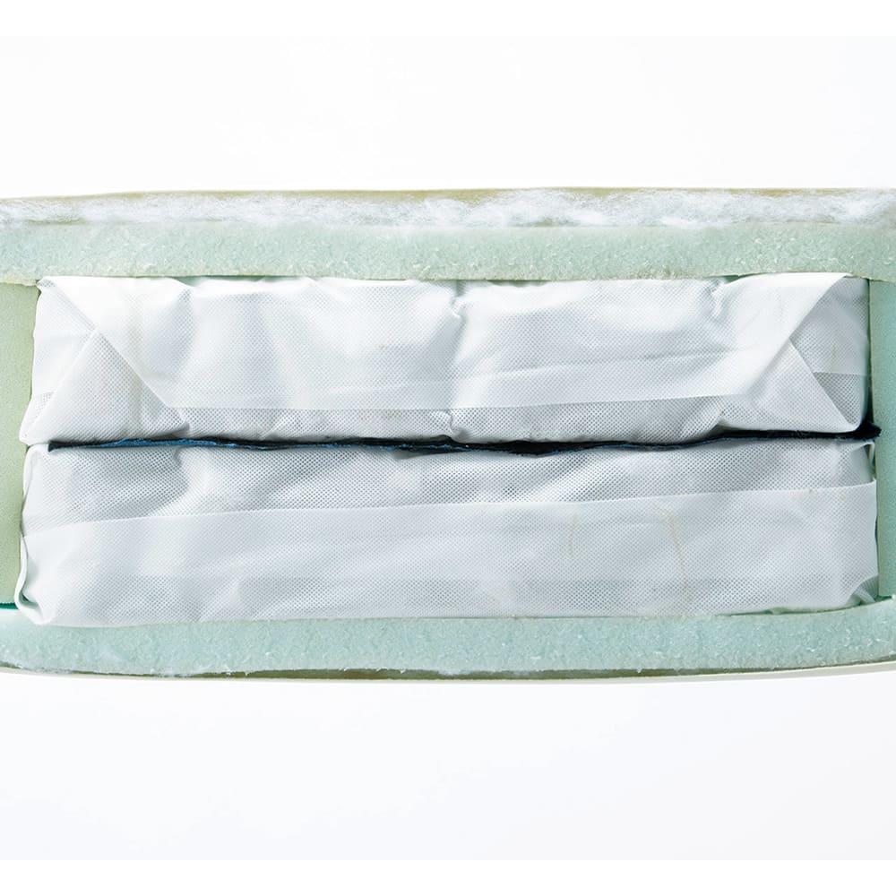 本革張りフロアソファ 幅195cm(3人掛けトリプルソファ) 柔硬2層のポケットコイルで底付き感のないしっかりとしたクッション性。お尻もよろこぶ快適な座り心地です