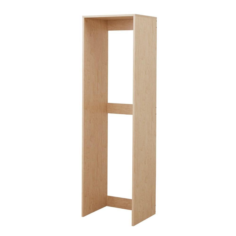 天然木調すき間収納本棚 2列用ボックス単品 ナチュラル色見本 ※写真はお届けのサイズとは異なります。