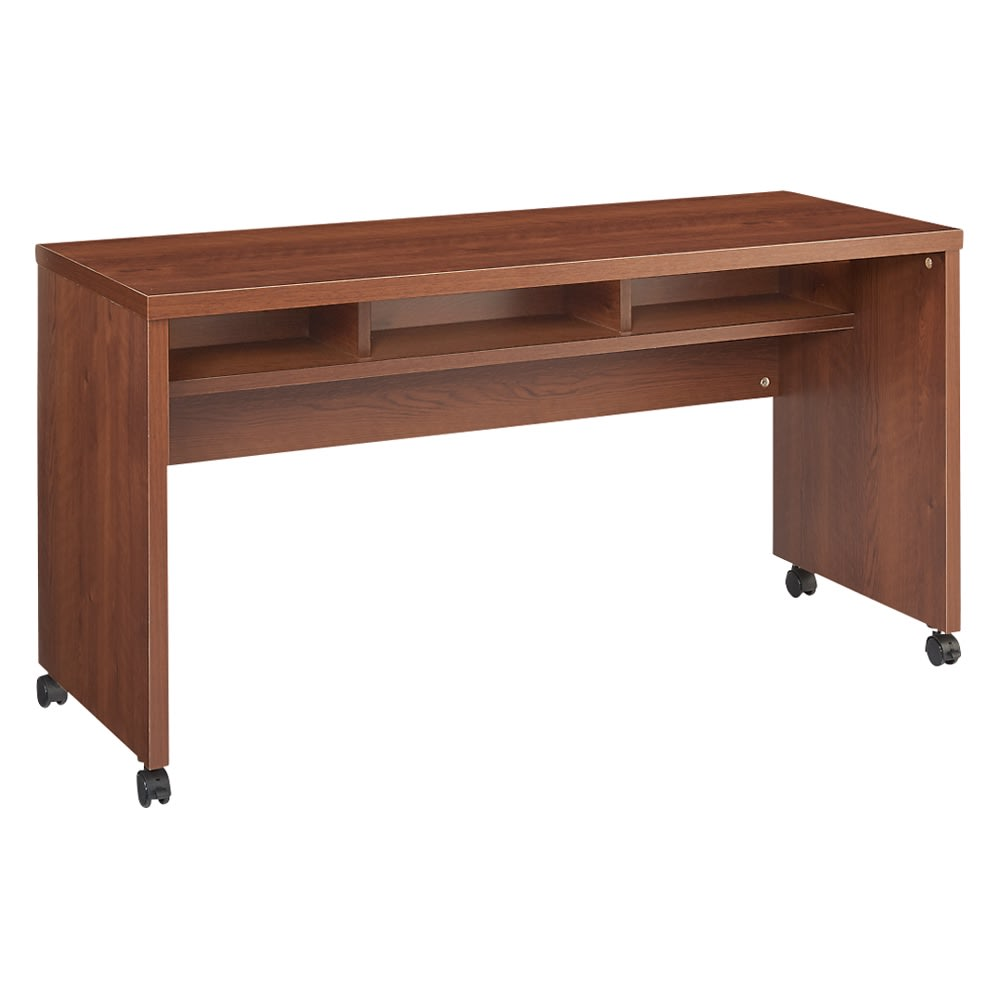 リビングテーブルワゴン 幅120cm (イ)ダークブラウン 収納部内寸サイズ(幅37奥行20高さ13cm)×3ヵ所