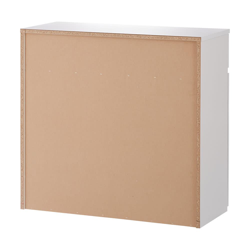 隠せるダストボックス付き光沢リビングボード 幅90cm(ダストボックス1個付き) 背面