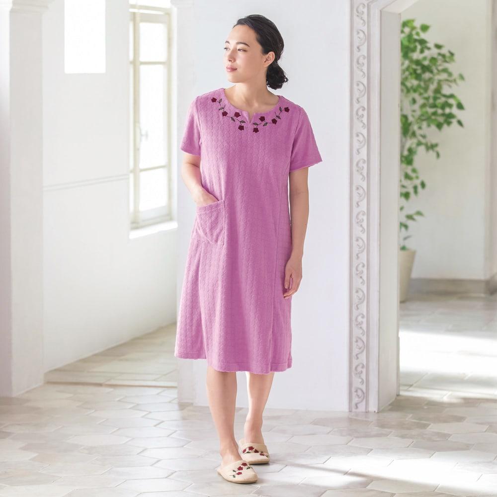 シビラ タオルドレス〈ロゼッタ〉 (ウ)ピンク
