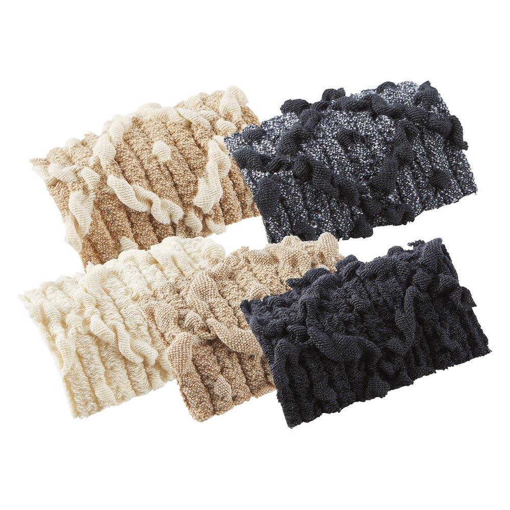 スペイン製フィットカバー〈バーナル〉 ソファカバー アームなし 左上から(ア)ベージュ×アイボリー (イ)グレー×ブラック (ウ)アイボリー (エ)ベージュ (オ)ブラック 織りで描き出した立体的な柄がソファをグレードアップ。