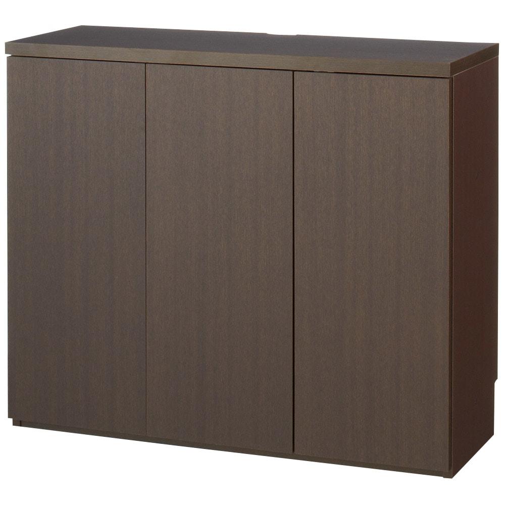 ダイニングテーブルから見やすいハイタイプテレビシリーズ 薄型キャビネット2枚扉 幅59.5cm (ア)ダークブラウン ※写真は3枚扉タイプです。