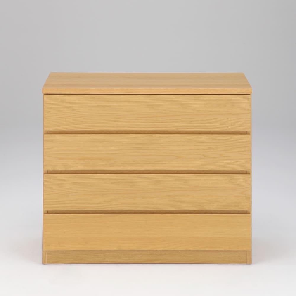 オーク天然木突板の国産多段チェスト 幅90.5cm・4段 高さ79.5cm 前板はオーク天然木突板仕様で、本物の木だからこそ感じることのできる温もり。
