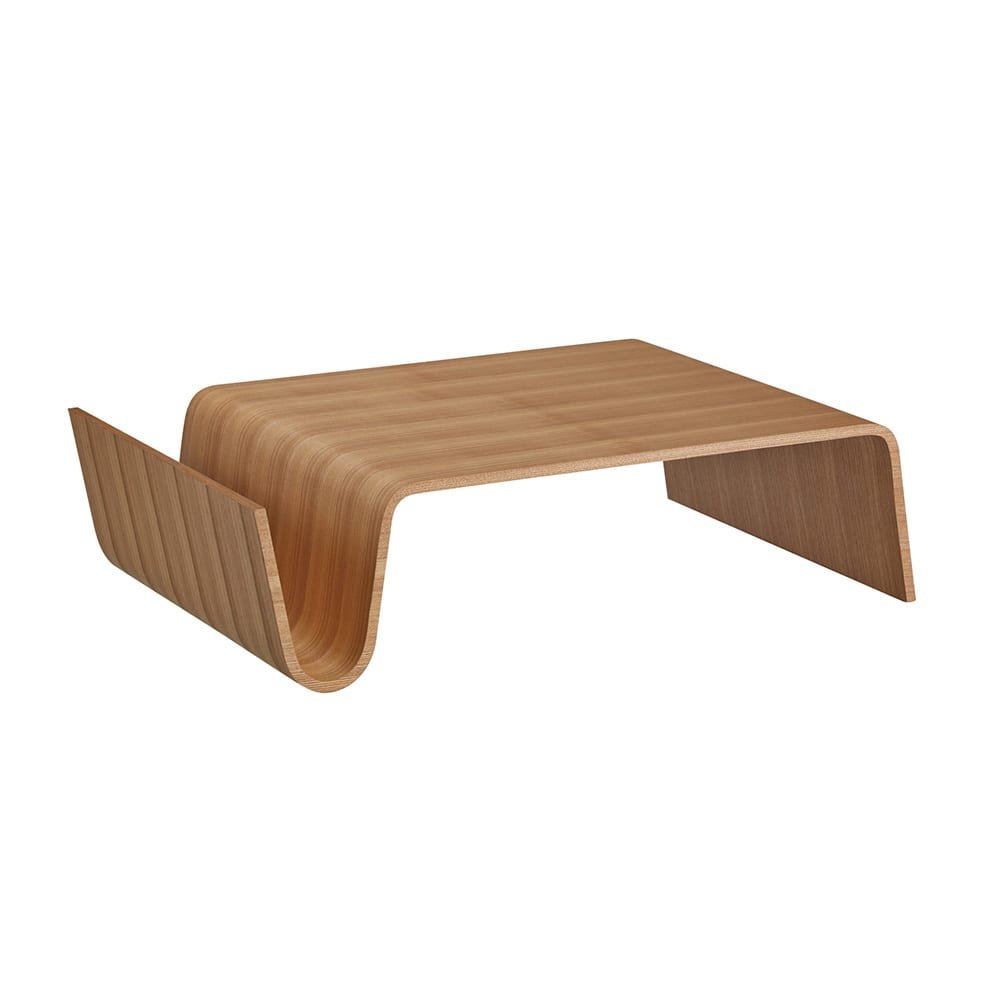 Poski/ポスキ デザインリビングテーブル ナチュラル 木の質感が感じられるデザインテーブル