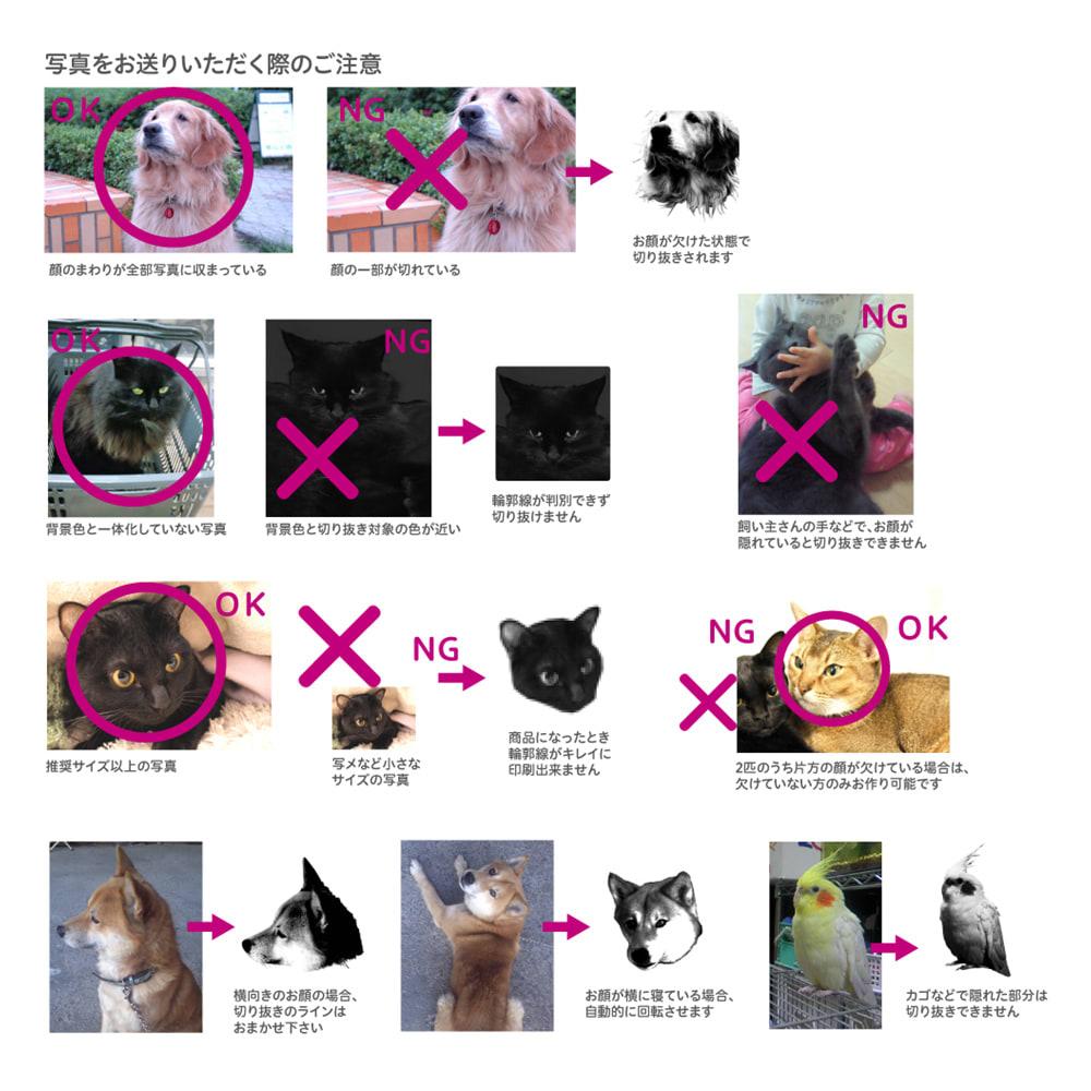 ペットの写真入りクッション Lサイズ