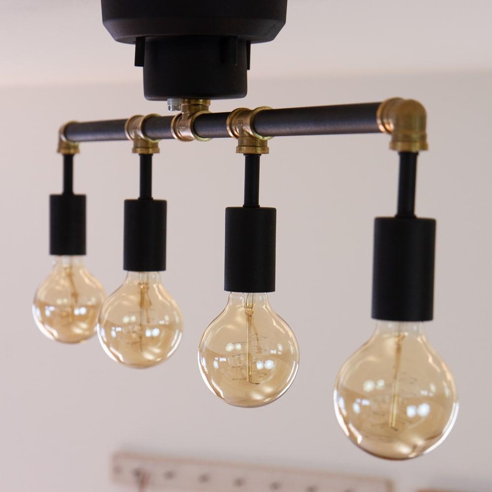 4灯シーリングライト シュナール (イ)ブラック