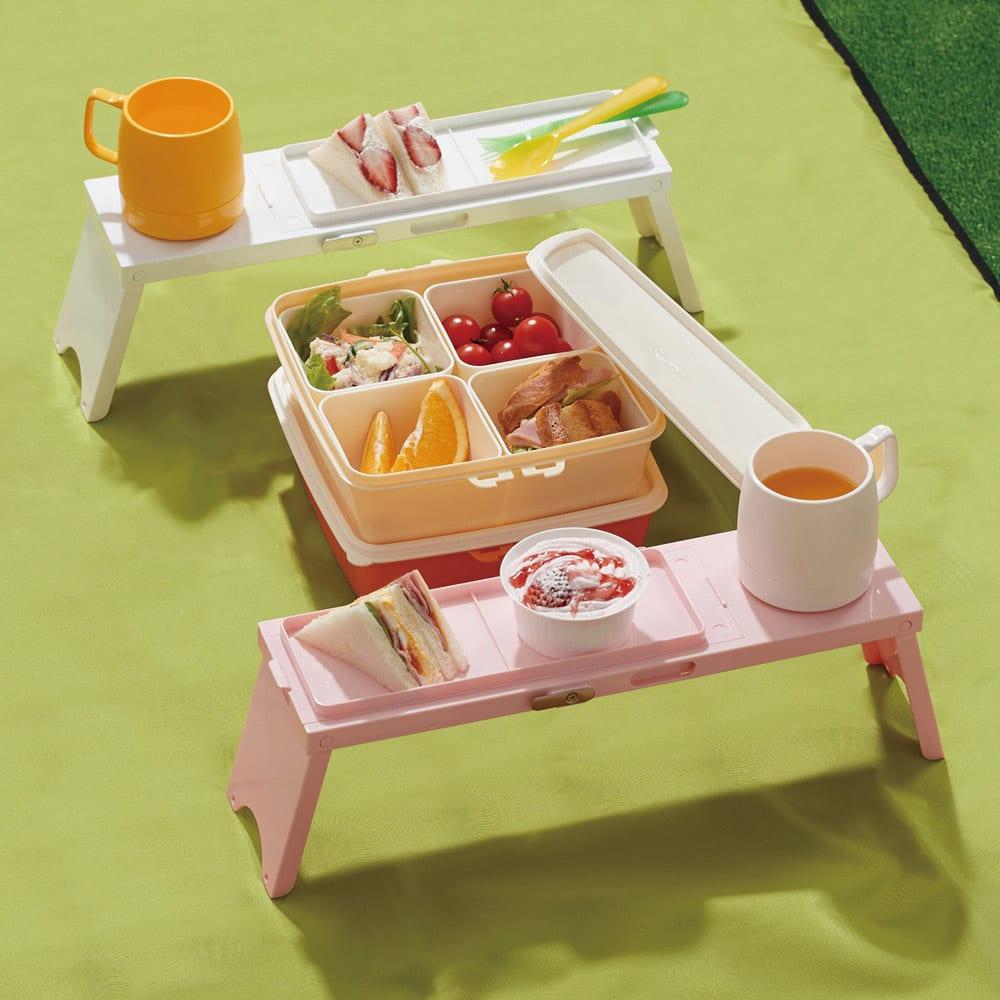 アウトドアテーブル ピクノ 同色3個セット