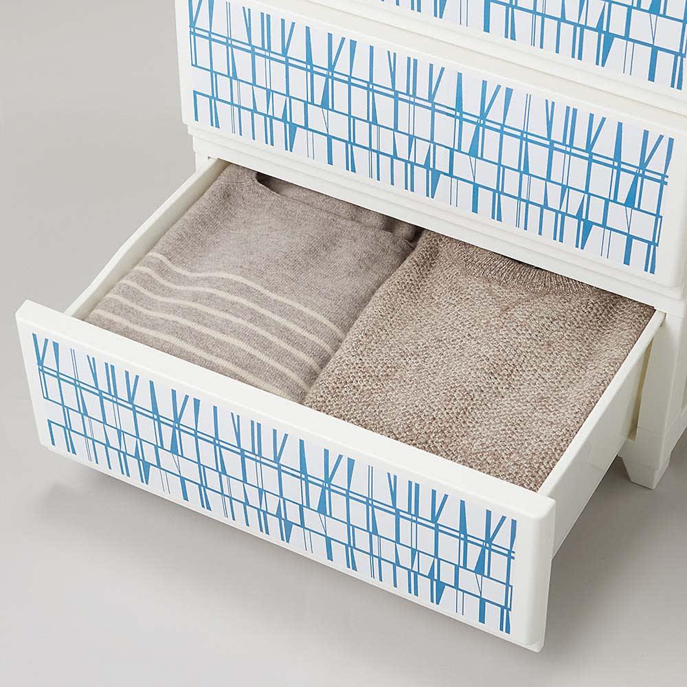 Finlayson/フィンレイソン 水に強い樹脂製多段チェスト スリム/ワイド 樹脂製だから、布物の出し入れのときに糸がほつれる心配もなし!