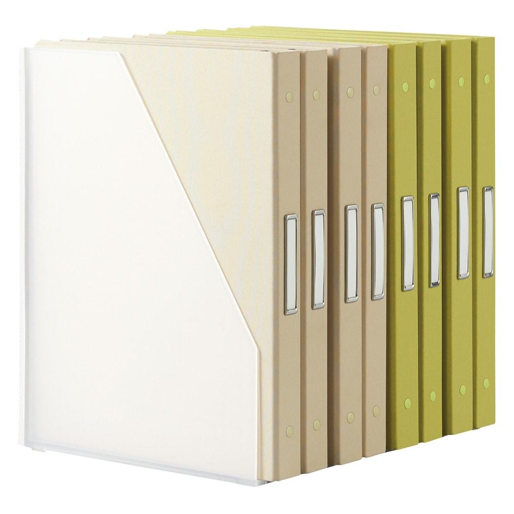 Finlayson/フィンレイソン 樹脂製ファイルケース4個組 ワイド ※裏面イメージ こちらはスリムタイプになります。