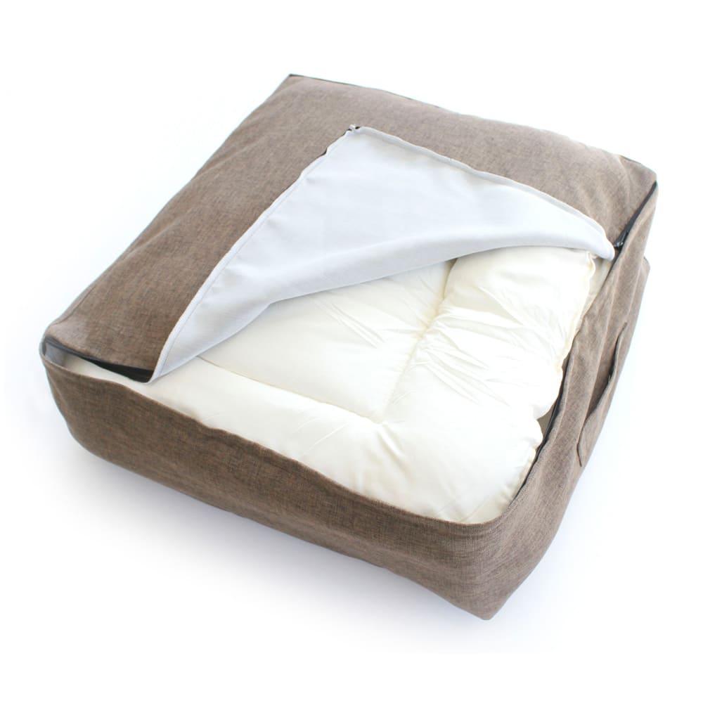クッションになる布団収納袋 色が選べるお得な2枚セット シングルのかけ布団一枚がしっかり収まります。