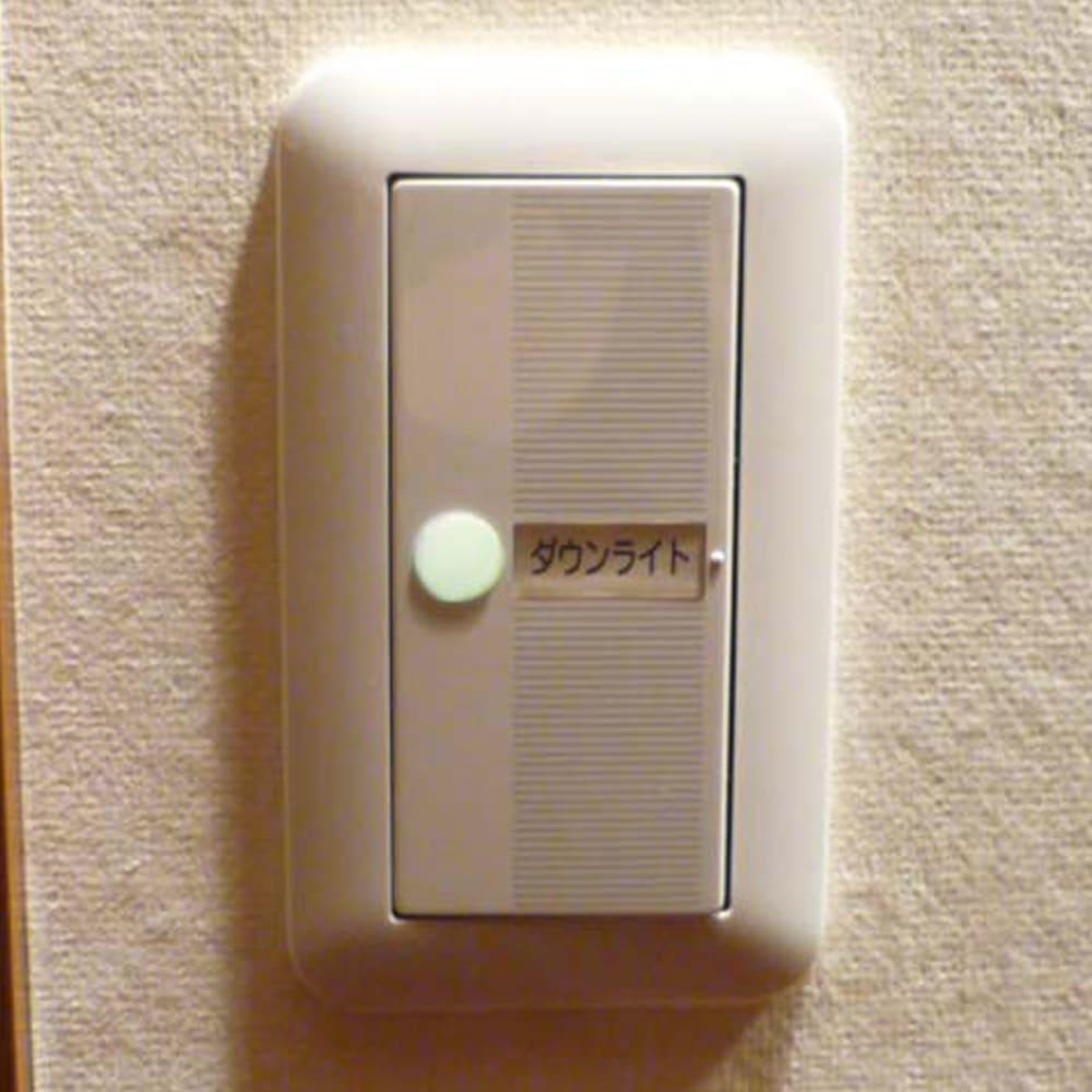 高輝度蓄光テープセット 電気スイッチ(○型シール使用例)