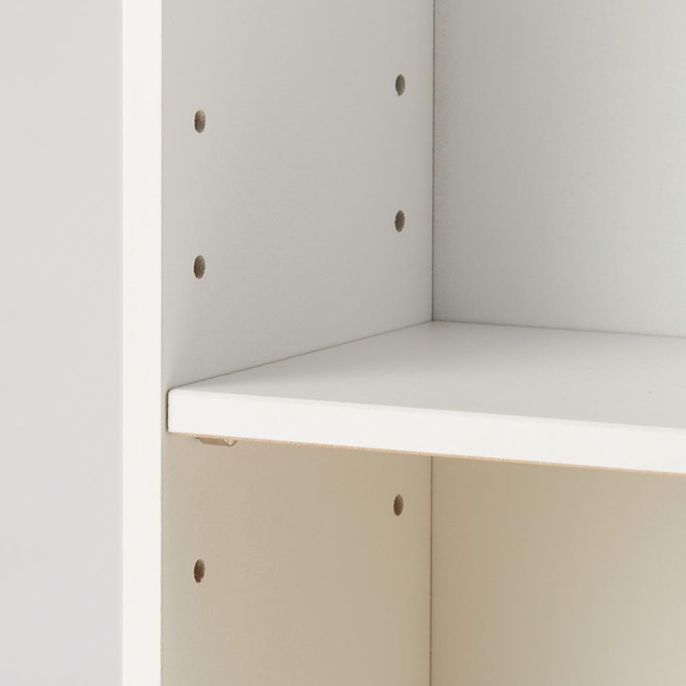 玄関収納ラック 棚2段タイプ 棚板は好きな位置に調整できます。