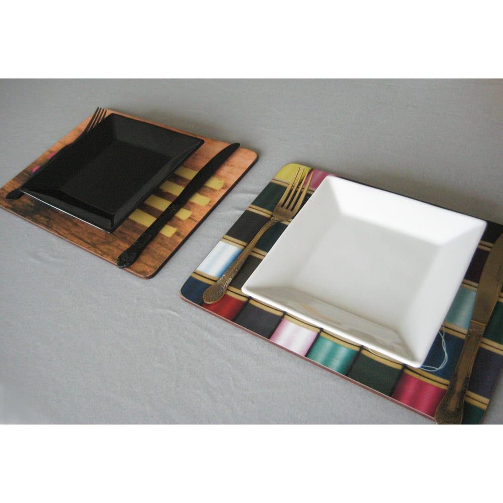 Eames/イームズ ランチョンマット 6枚組  メインディッシュを置いてつかうのにもいいサイズ。