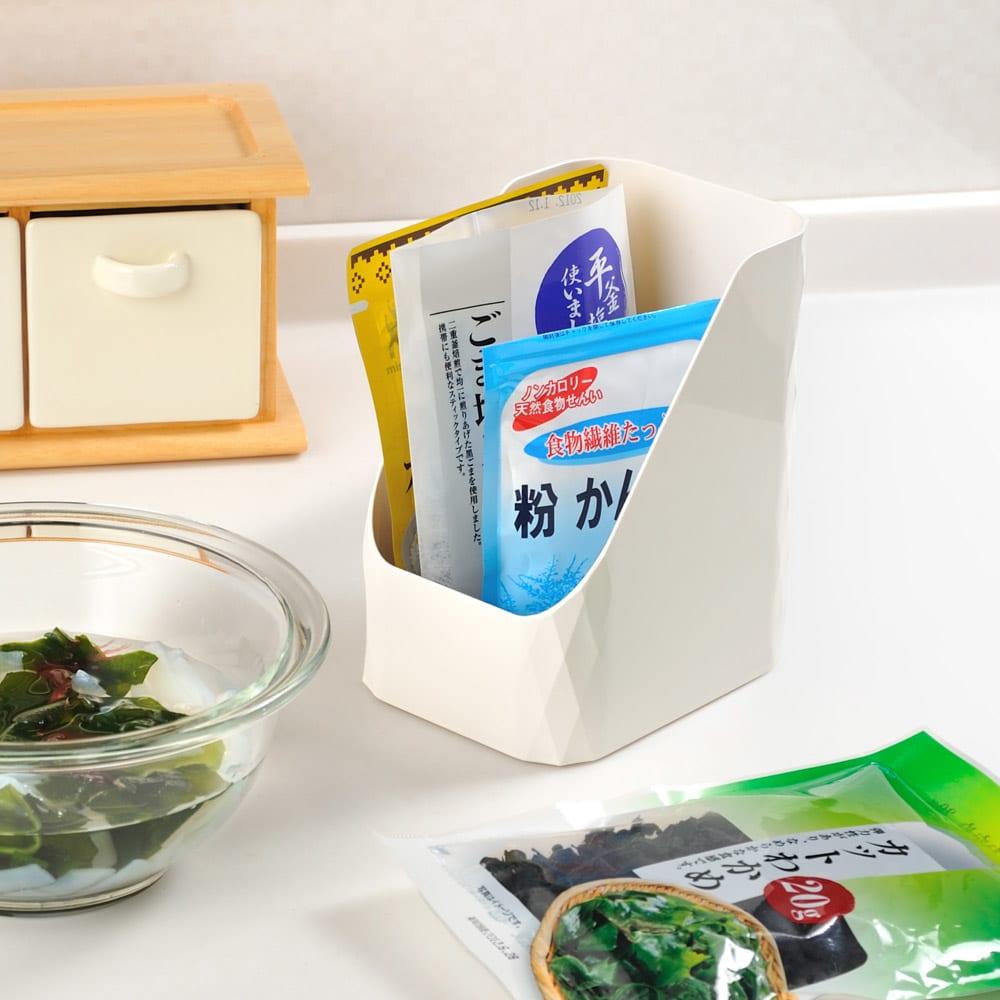 【キッチン小物収納】Leye レイエ ストックボックス 2個組 小ぶりなので移動も簡単。