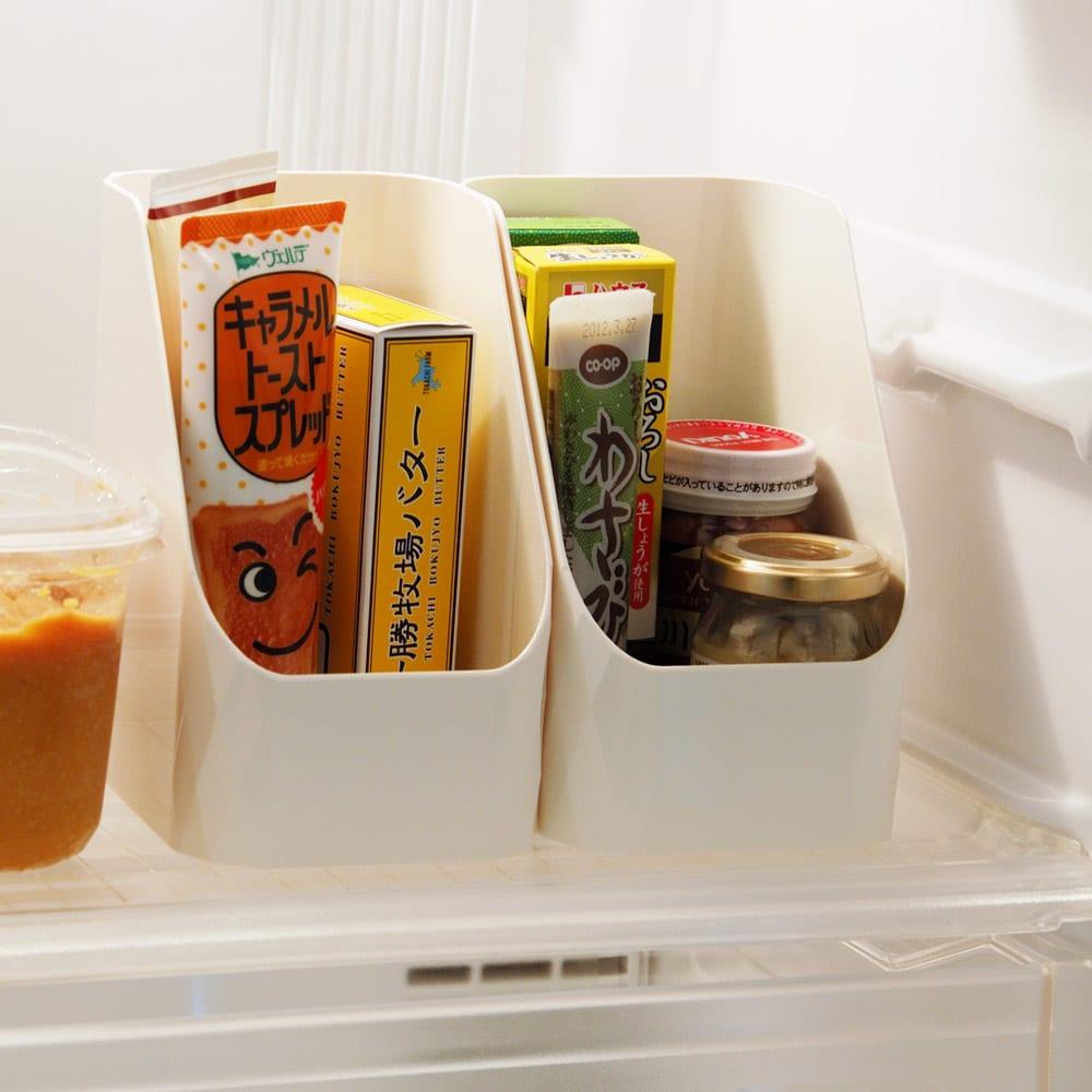 【キッチン小物収納】Leye レイエ ストックボックス 2個組 冷蔵庫の整理にも便利です。